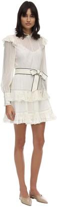 Zimmermann Ruffled Lace Mini Dress