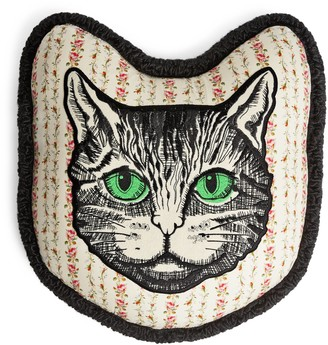 Gucci Mystic Cat embroidered cushion