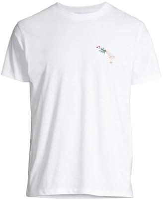 Maison Labiche Rose & Gun Graphic T-Shirt