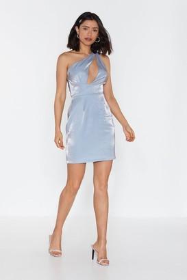 Nasty Gal Womens Like a Diamond One Shoulder Mini Dress - Blue