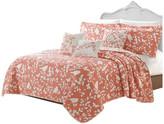 "Serenta Birdsong 6-Piece Bed Spread Set, Coral, Jumbo King/Cal King, 122""x106"""