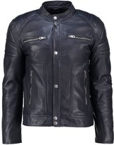 Redskins Montero Biber Leather Jacket Dark Navy