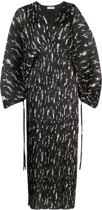 Givenchy Floral Kimono Style Maxi Dress