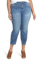Melissa McCarthy Plus Size Women's High Rise Stretch Girlfriend Jeans