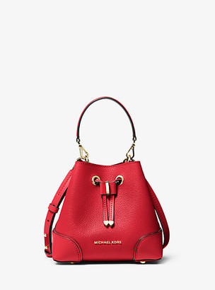 Michael Kors Mercer Gallery Extra-Small Pebbled Leather Crossbody Bag