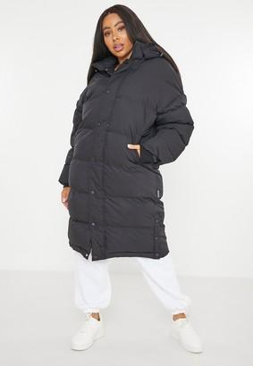 Missguided Plus Size Black Longline Puffer Jacket