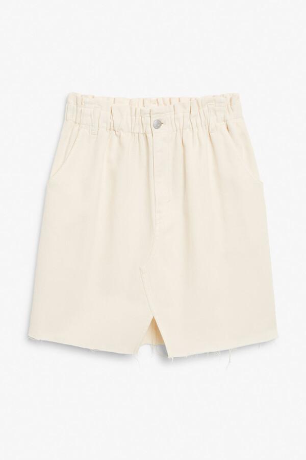 Thumbnail for your product : Monki Raw hem denim skirt