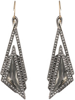Alexis Bittar Crystal Stepped Fancy Pyramid Wire Earring