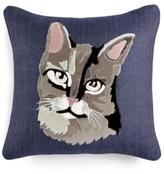 "Home Design Studio Home Design Studio Cat 18"" Square Decorative Pillow"