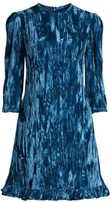 Shoshanna Rula Crushed Velvet A-Line Dress