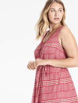 Lucky Brand Jacquard Border Print Dress