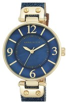 Anne Klein Women's Denim Strap Watch, 34Mm