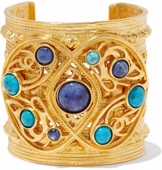 Ben-Amun Gold-tone Stone Cuff