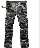 Roludom Men's Camouflage Pants Slim Fit Cargo Pants