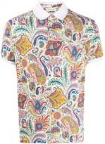Etro paisley-print polo shirt