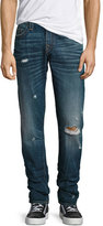 True Religion Geno Distressed Straight-Leg Jeans, Worn Mystic