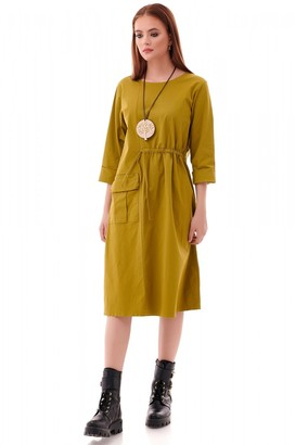 AIMELIA Trendy oversized Lime Tunic
