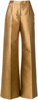 Antonio Berardi flared trousers - women - Silk/Polyester/Spandex/Elastane - 40