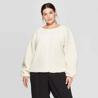 Prologue Women's Plus Size Sherpa Boat Neck Sherpa Sweatshirt - PrologueTM