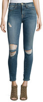 Frame Le High Distressed Skinny Jeans, Navy Yard