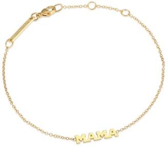 Zoë Chicco 14K Gold Tiny Capital Letters Mama Bracelet