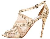 Alaia Snakeskin Caged Sandals