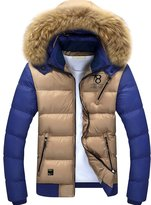 URBANFIND Men's Slim Wear Thick Hooded Fleece Outerwear Jacket