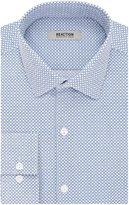 Kenneth Cole Reaction Men's Slim Fit Print Spread Collar Dress Shirt