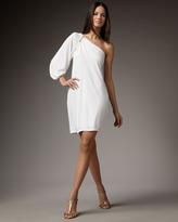 David Meister One-Shoulder Jersey Cocktail Dress