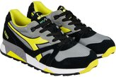 Diadora N9000 NYL Mens Gray Yellow Suede/Synthetic Lace Up Sneakers Shoes 11
