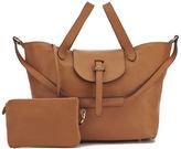 Meli-Melo Women's Thela Classic Leather Tote Bag Tan