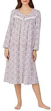 Eileen West Floral Print Cotton Nightgown