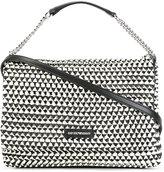 Emporio Armani contrast texture shoulder bag - women - Cotton/Polyester/Polyurethane/Spandex/Elastane - One Size