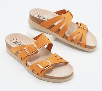 Mephisto Leather Slide Sandals - Helisa