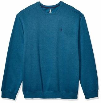 Izod Men's Big & Tall Big Advantage Performance Long Sleeve Solid Fleece Soft Crew Pullover