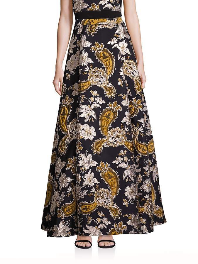 Alice + Olivia Women's Rachele Paisley Printed Long Skirt