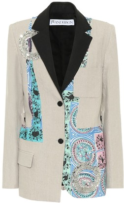J.W.Anderson Printed linen blazer