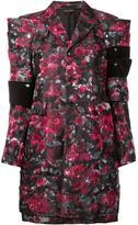 Comme des Garcons angular flower print coat