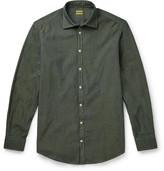 Massimo Alba - Slim-fit Pin-dot Iridescent-cotton Shirt