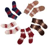 Gloous Wool socks women thermal winter rabbit wool socks female thickening towel 100% cotton socks gift sock box