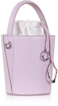 Cafune Lilac Leather Mini Bucket Bag