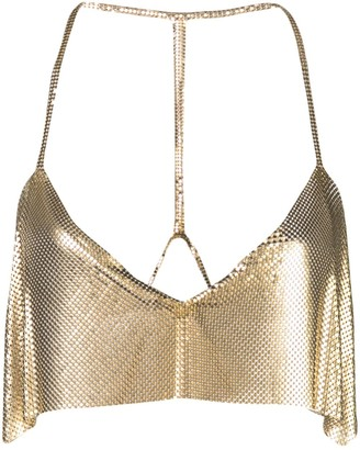 Fannie Schiavoni cropped chainmail top