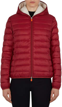 Save The Duck Hooded Sherpa-Trim Jacket