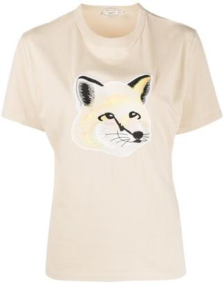 MAISON KITSUNÉ Fox Head applique T-shirt