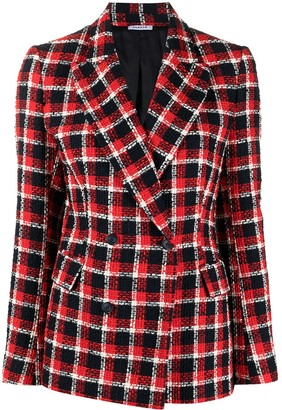 P.A.R.O.S.H. Checked Double-Breasted Blazer