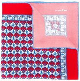 Kiton damask print pocket square