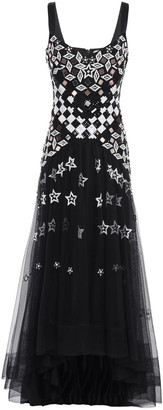 Temperley London Splendour Asymmetric Embellished Tulle Midi Dress