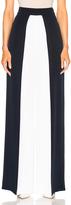 Cushnie et Ochs Color Blocked High Waisted Wide Leg Silk Pant