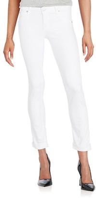 Hudson Cropped Straight-Leg Jeans