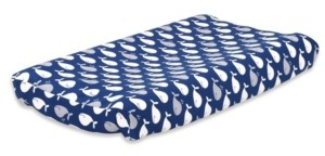 The Peanut Shell The Navy Whale Changing Pad Cover Bedding